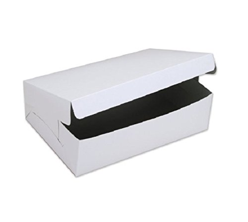 SafePro 19144C, 19x14x4-Inch Cardboard Cake Boxes, Take Out Disposable Paper Cake Pie Containers, Wholesale White Bakery Box (100)