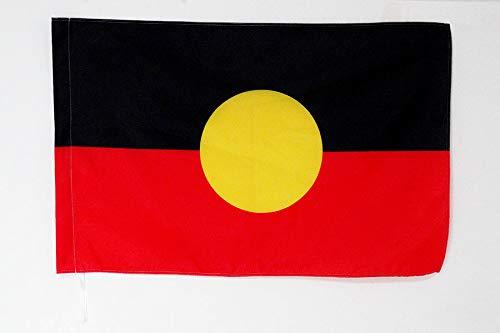 AZ FLAG Australian Aborigine Flag 2' x 3' for a Pole - Indigenous of Australia Flags 60 x 90 cm - Banner 2x3 ft with Hole (Australia Cheap Furniture Outdoor)