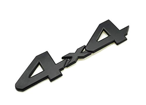 PB-Autoparts Tundra Tacoma 4runner 4X4 Badge Decal Emblem ABS Mettal Black Size 15.0x3.7cm (6.0x1.5 inches) ()