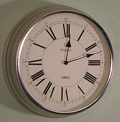 modern chrome paris wall clock kitchen clock - Kitchen Clock