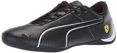 PUMA Men's Ferrari Future Cat Sneaker, Black White, 10 M US