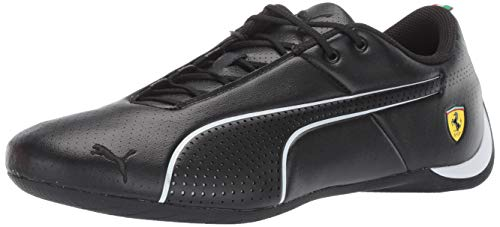 PUMA Men's Ferrari Future Cat Sneaker, Black White, 10.5 M US