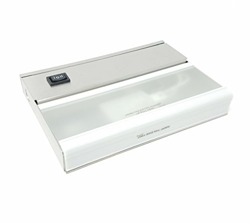 10579SS TaskWork Direct Wire 7IN 1LT 12V Xenon Undercabinet Light, Brushed Stainless Steel Finish with Frosted Glass Diffuser - 1 Light Xenon Task Lighting