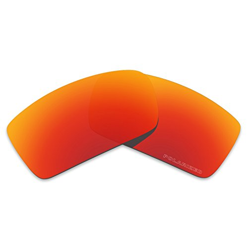 Tintart Performance Lenses Compatible with Oakley Gascan Polarized Etched-Fire Red (Can Oakley Gas Lenses Replacement)