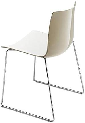 arper Catifa 46 0278 Stuhl zweifarbig Kufe Chrom, weiß