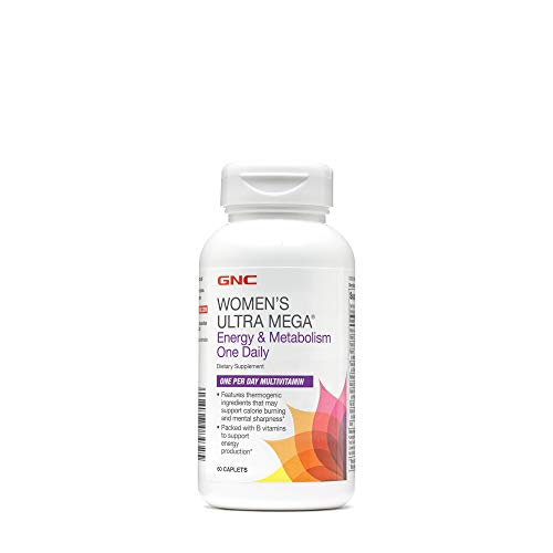GNC Mega Women Sport One Daily Multivitamin for Women, 60 Count, for Performance, Muscle Function, and General Health