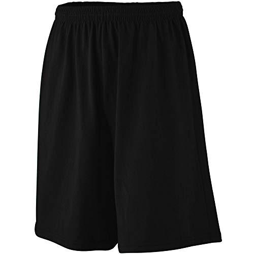Augusta Heavyweight Jersey - Augusta Sportswear Men's Longer Length Jersey Short L Black