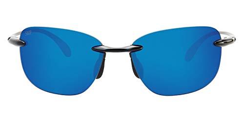 Costa Del Mar Seagrove 580P Seagrove, Shiny Black Blue Mirror, Blue Mirror