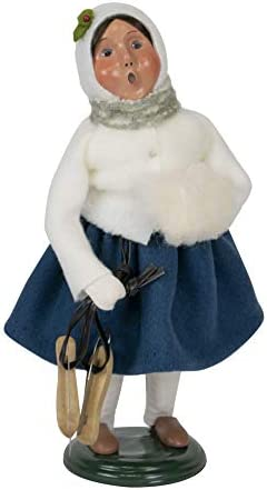 Byers Choice Girl w Skates Caroler Figurine from The Specialty Families Collection 114G