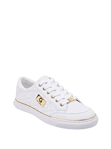 G by GUESS Women's Omerica Quilted Faux-Leather Logo Plaque Sneakers -