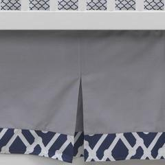 Lambs & Ivy Jensen Collection Gray Pleated Crib Dust Ruffle