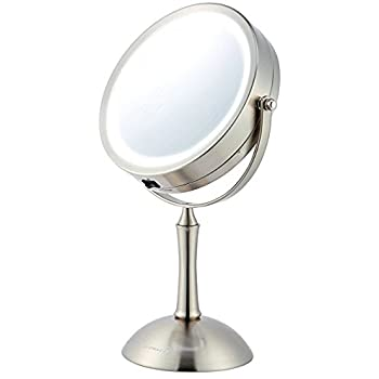 Amazon Com Ovente Led 1x 8x Magnifying Makeup Mirror 7
