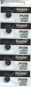 Energizer Batteries 371 / 370 (SR920W SR920SW) Silver Oxide Watch Battery. On Tear Strip, 5 Pack