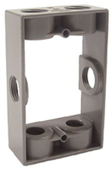 Hubbell-Raco 5400-0 Weatherproof Box Extension, 1-Gang, Depth: 1-1/2