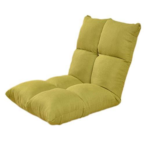 怠惰なソファ畳シングルミニ折りたたみ小型ソファベッドコンピュータチェアドミトリー出窓窓際背もたれ椅子(カラー:GREEN) B07SYNKQL4 Green