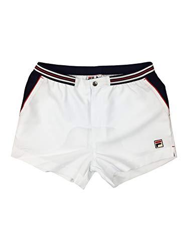 Fila Mens Spring - Fila Men's Hightide Terry Pocket Stripe SweatShorts, White, L