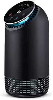 Air Purifier BS-08, Air Purifier for Home Large Room, True HEPA Air Purifiers with 7 Color Night Light, Quiet