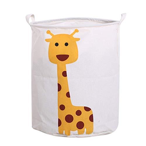 - TUOBU Folded Cotton Dirty Clothes Bucket Giraffe Debris Bucket Toy Storage Basket Storage Basket