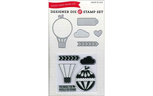 Echo Park Paper Company EPDie/Stamp2 Hot Air Balloon Die and Stamp Combo Set Scrapbook