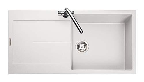 (Rangemaster SCO1051CW/ SCORIA IGNEOUS 1000500 1.0 BOWL CRYSTAL WHITE Kitchen Sink)