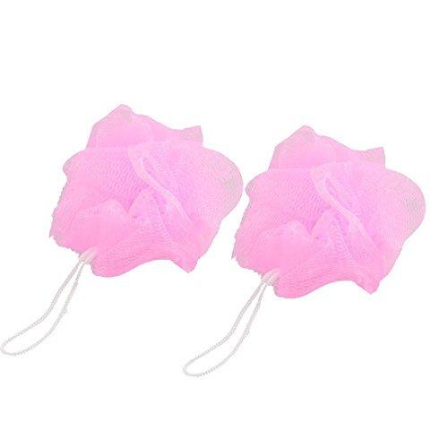 eDealMax Facendo il bagno Mesh Pouf Baby Shower bel Corpo bagno 2 pezzi rosa