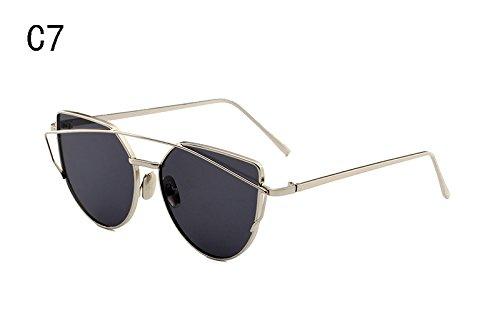 XIESIQING Sunglasses Women brand Gradient Ocean Lens Cat Eye Sunglasses  Ladies Alloy Full Frame Sun Glasses a9559660dd