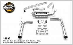 MagnaFlow 15693 Stainless Cat-Back Exhaust System 2002-2002 Chevrolet Camaro V6 3.8L (2002 Camaro V6 Exhaust compare prices)