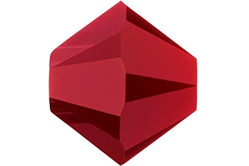 4 Mm Red Coral (12 Dark Red Coral Swarovski Crystal Bicone Beads 4mm)