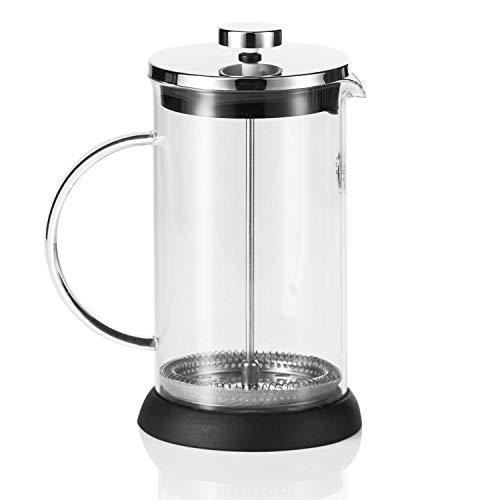 Cafetera de cristal con filtro de presión de Coffee Fox French Press de 1 litro, apta para lavavajillas