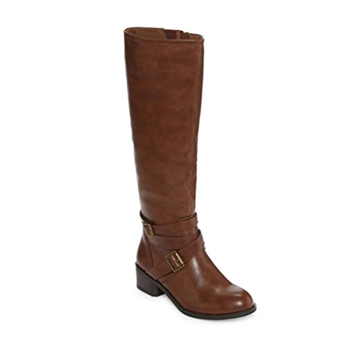 Arizona Jean Co Dakota Womens Riding Boots (9.5 Medium, Cognac)