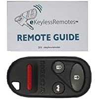 2002-2004 Honda CRV Keyless Entry Remote Fob Clicker With Do-It-Yourself Programming and eKeylessRemotes Guide