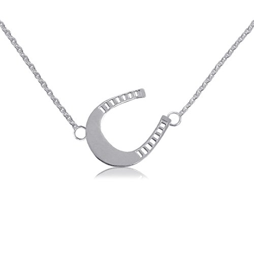 Kentucky Derby Sterling Silver Jewelry Horseshoe Necklace by Dayna Designs