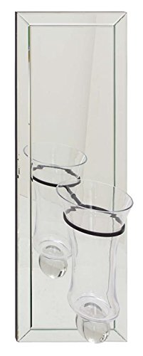 Deco 79 87278 Wood Mirror Wall Vase, 12'' x 36'' by Deco 79
