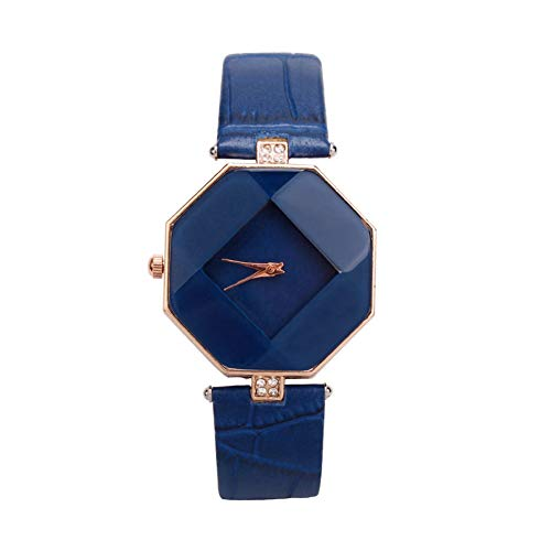 Acamifashion Women Fashion Faux Leather Band Analog Quartz Rhombic Case Wrist Watch Gift - (Fashion Quartz Watch)