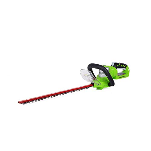 Greenworks 22-Inch 24V Cordless Hedge Trimmer, Battery Not Included 2200302 (Renewed)