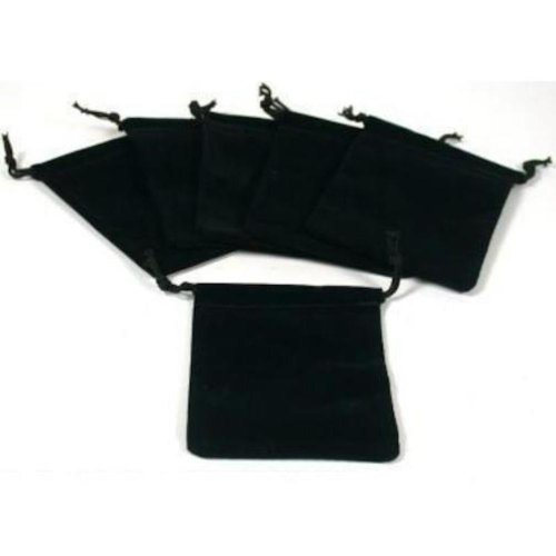 Pouches Black Velvet Drawstring Jewelry