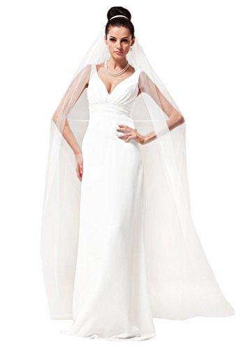 aukmla 1T novia pelo largo velo con peine, Catedral longitud boda accesorios para las mujeres