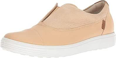 ECCO Women's Women's Soft 7 Slip-on Sneaker, Powder/Powder ii, 35 M EU (4-4.5 US)