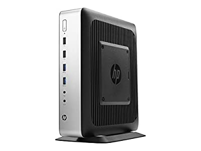 HP t730 Tower Desktop, 8 GB RAM, 32 GB flash, AMD Radeon HD, Black/Silver (W5W71UT#ABA)