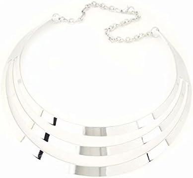 Silver Gorgeous Metal Multi Layer Choker Bib Collar Necklace Jewelry Necklaces /& Pendants Collar /& Choker - - 1 X Collar Necklace