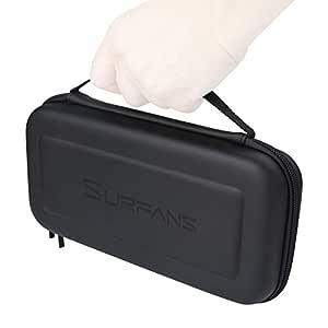 SURFANS Nintendo Switch Case,Switch Travel Case,Hard case,Carrying Case for Nintendo Switch Console&Accessories (Black)