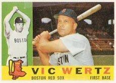 1960 Topps Regular (Baseball) Card# 111 Vic Wertz of the Boston Red Sox VGX Condition ()