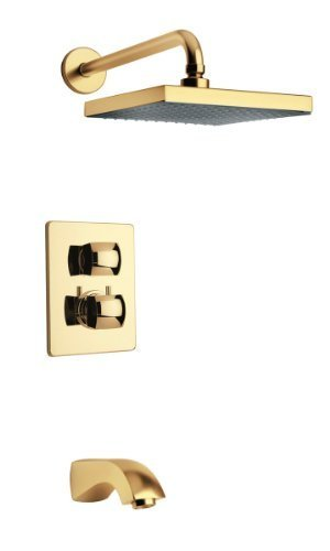 La Toscana 89OK691 Lady Thermostatic Tub/Shower Faucet, Satin Gold by La Toscana