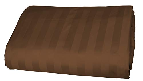 Egyptian Striped Pillowcase - American Pillowcase 100% Egyptian Cotton Luxury Striped 540 Thread Count Fitted Sheet with Wrinkle Guard - King, Chocolate