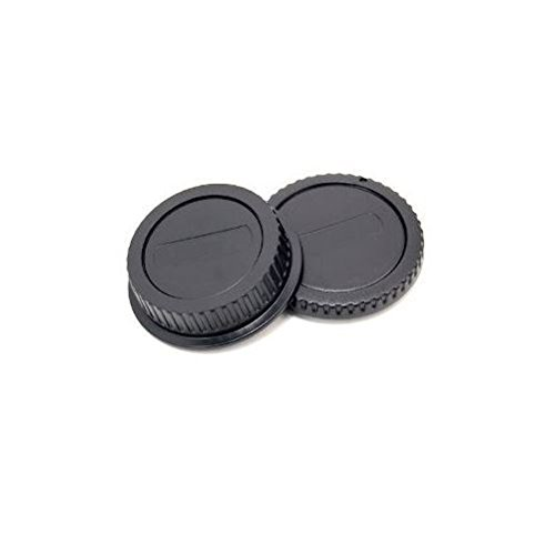 JJC L-R1 Rear Lens and Camera Body Cap Cover for Canon EOS & EF/EF-S Lens - Black