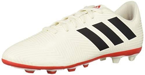 sports shoes f51e1 140b9 adidas Unisex Nemeziz 18.4 Firm Ground, Off Off White Black Active red, 6 M  US Big Kid