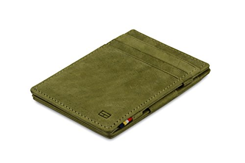 Garzini Olive Green Garzini Magic Magic Vintage Wallet Essenziale RFID Leather UFUqr