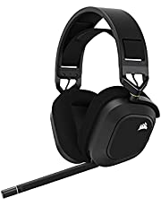 Corsair HS80 RGB WIRELESS Premium Gaming Headset with Spatial Audio, Carbon