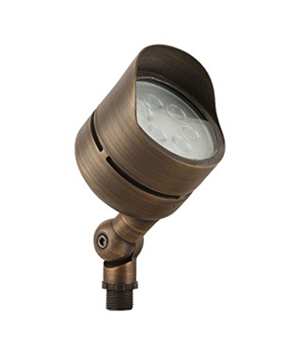 LFU Solid Brass Constructed Built-in LED Spot Up Flood Light. Low Voltage. (1, Polaris)