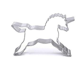 DreamFlying Unicorn Caballo Molde para Galletas - Acero Inoxidable: Amazon.es: Hogar